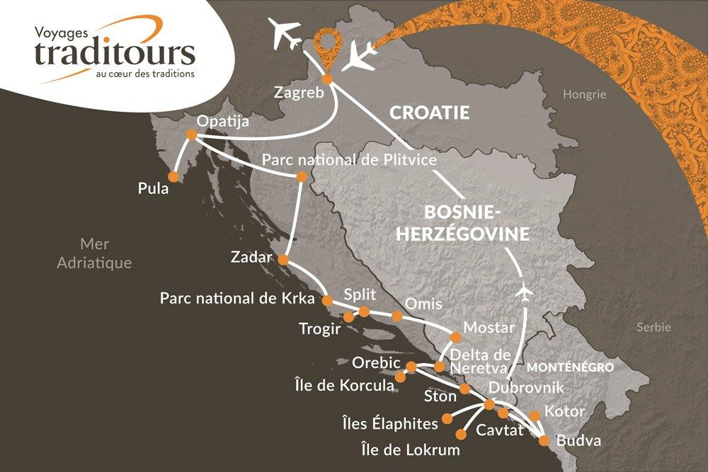Croatie Bosnie Herzgovine Montngro 18 Jours